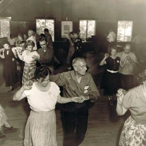 Round dancing at American square school Aug 27-Sep 4th 1953.jpg