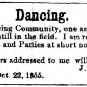 Putnam, John - Dancing ad - 7 Jan 1856.png