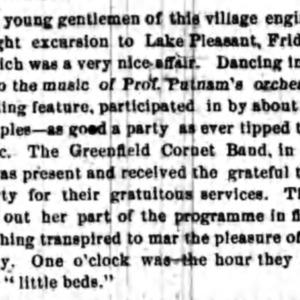 Putnam's Orchestra, Prof. - Lake Pleasant - 11 Aug 1873.png